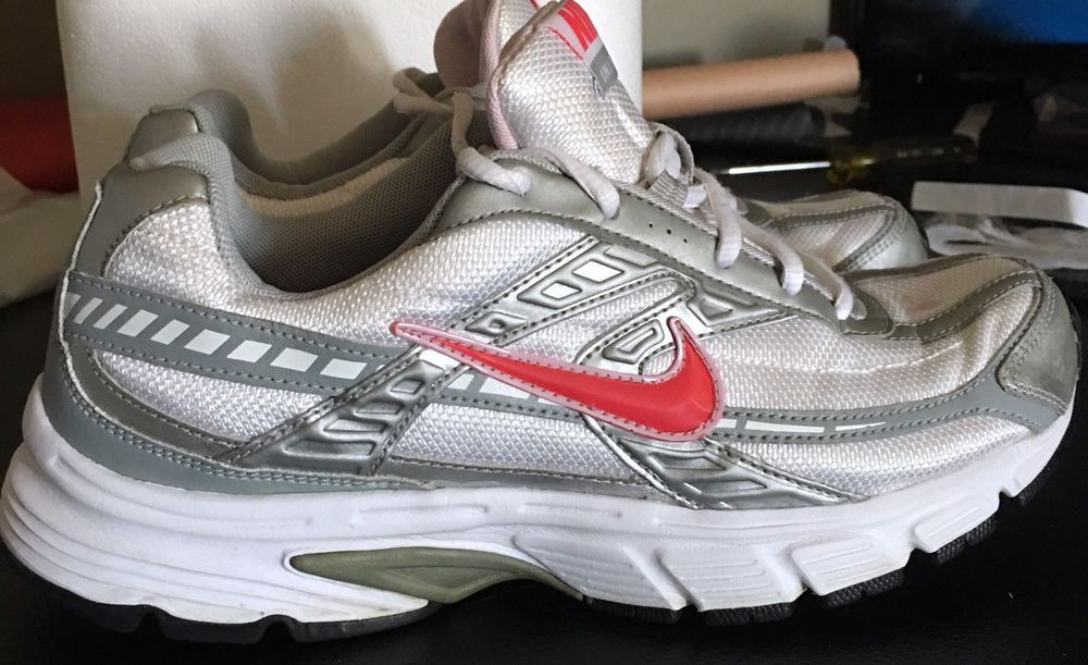 NIKE Inititor Womens Running Walking Sneakers Shoes US Size 8.5 Silver Blue