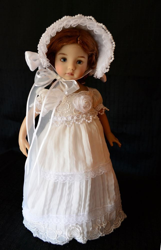 """White Christmas at the Manor""Regency Dress,Outfit for 13"" Effner Little Darling #ClothingAccessories"