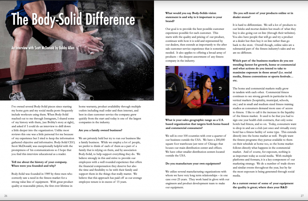 Body Solid Featured In Home Gym Quarterly Home Gym Body At Home Gym