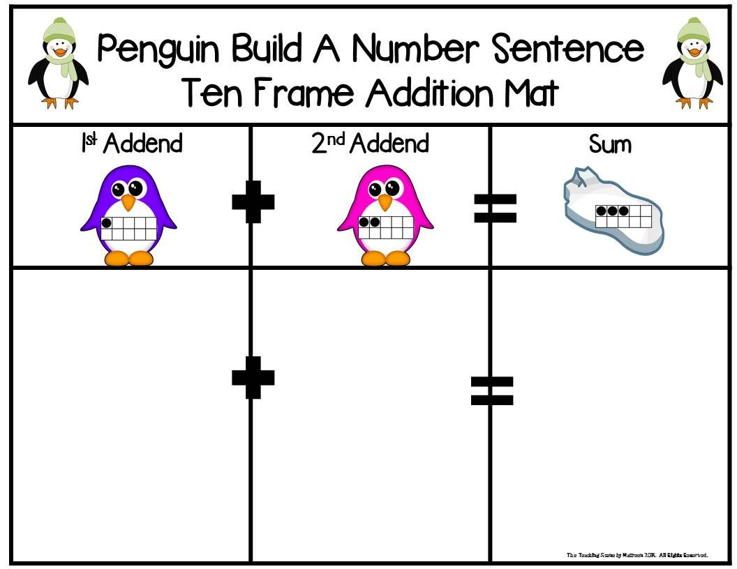 Penguins 2 Addend Addition Amp Subtraction Facts 0 20 With