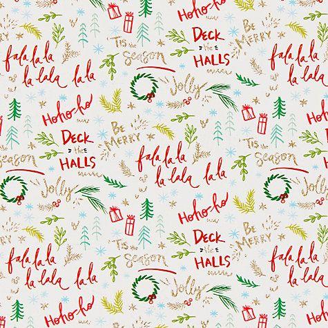 Christmas Gift Wrap Design.Kelly Ventura Falala Gift Wrap W70cm X Roll Length 300cm