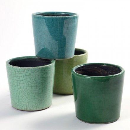 Pot De Fleur En Ceramique Bleu Vert Home Sweet Home Pinterest