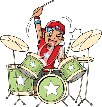 Iclipart Com Royalty Free Clipart Image Of A Boy Playing Drums Drums Cartoon Drums Art Kids Drum Set
