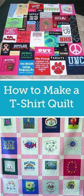 Quick And Easy T Shirt Quilt Tutorial Quilt Tutorials Shirt