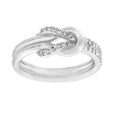 72e40c26bdd99 Silver Swarovski Knot Ring.... in love with this i wear it sll the ...
