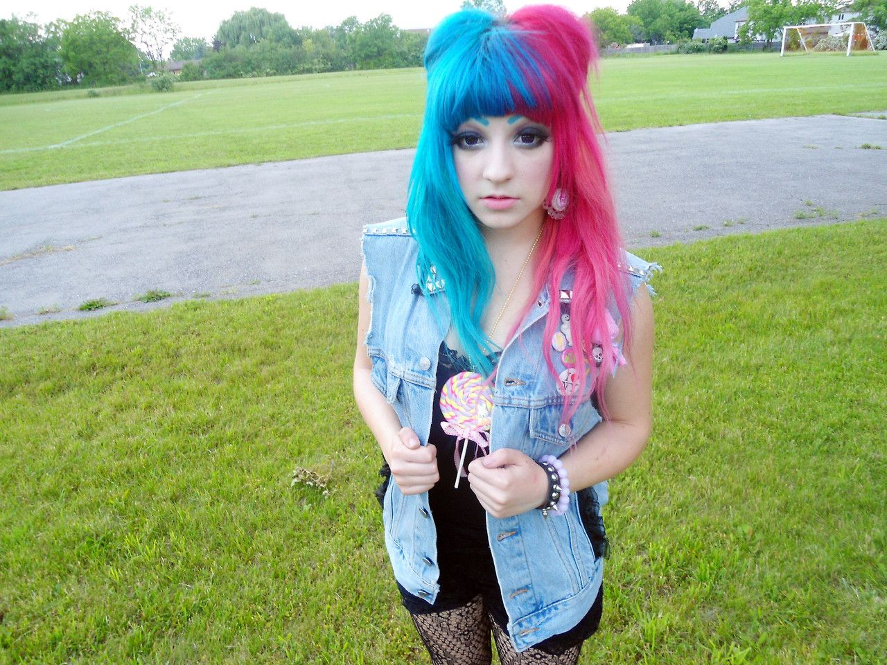 Blue and pink hair blue pink hair pinterest pink hair hair