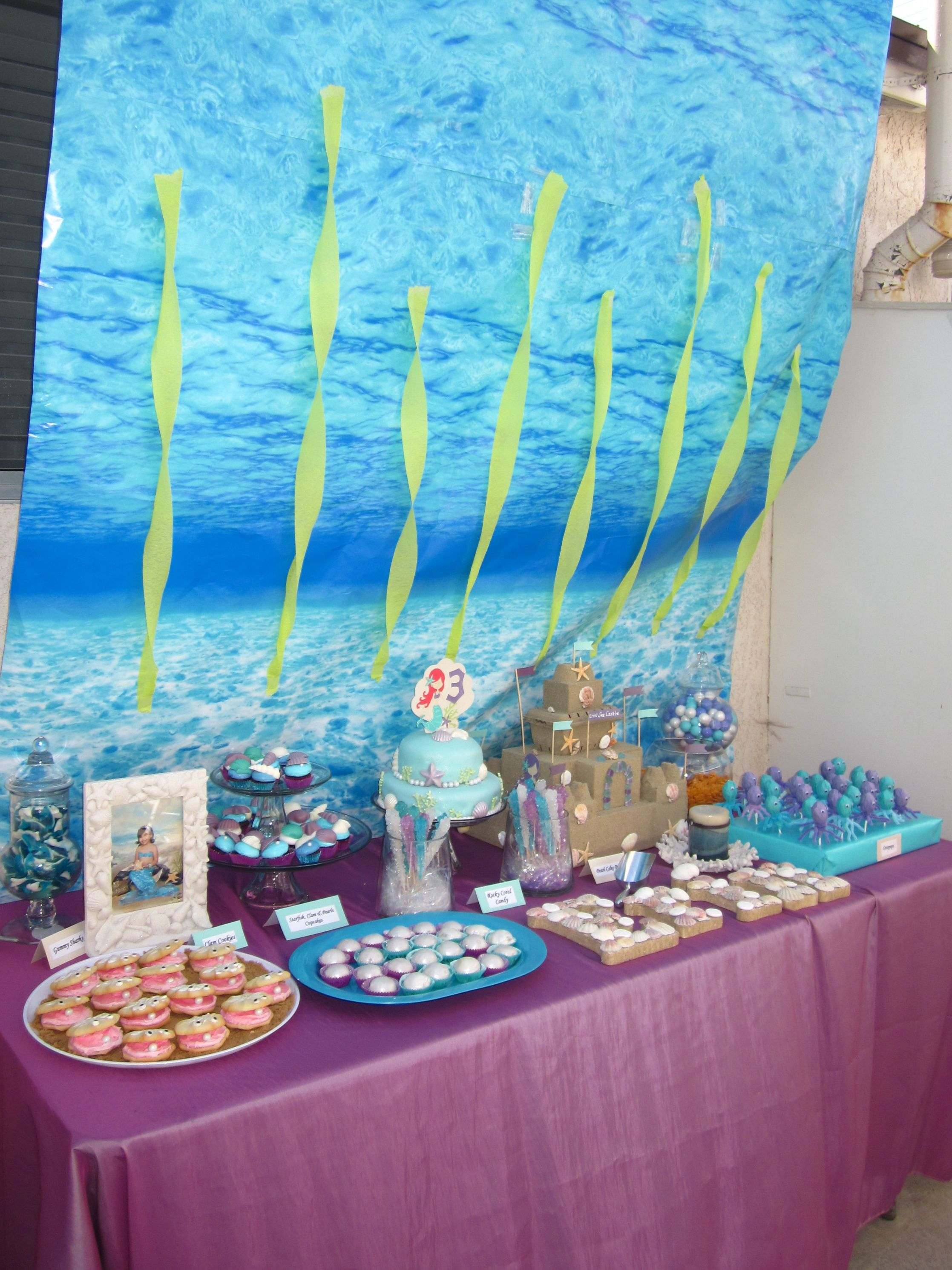 Under The Sea Candy Table Candy Table Party Time Mermaid Party
