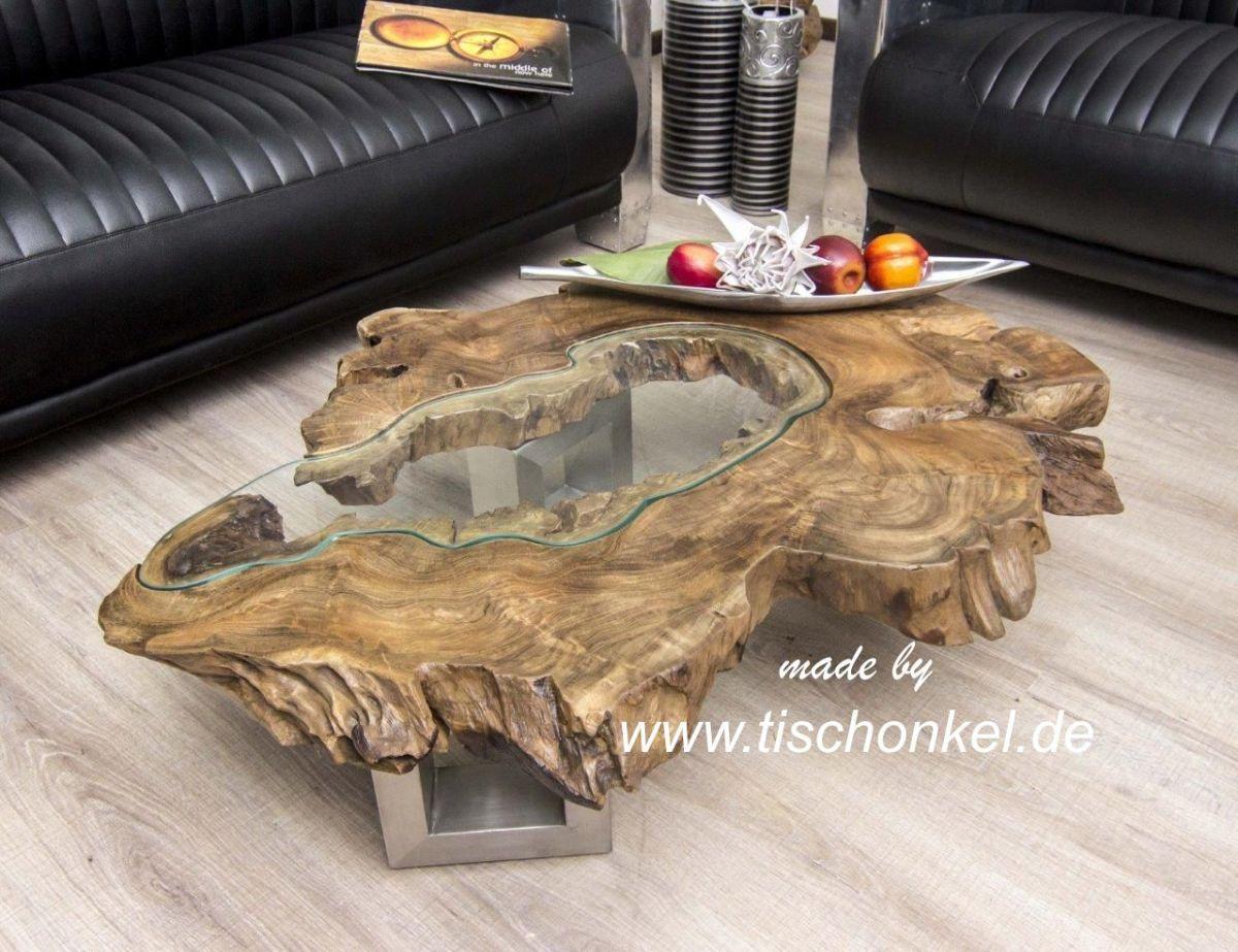 Couchtisch Aus Einer Baumscheibe Der Tischonkel Couchtische In