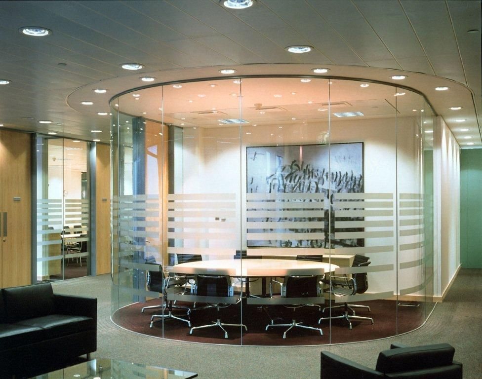 Oval Glass Meeting Room Unique Office Design