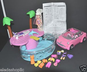 Polly Pocket Pink Convertible Limo Party Car Amp Swimming