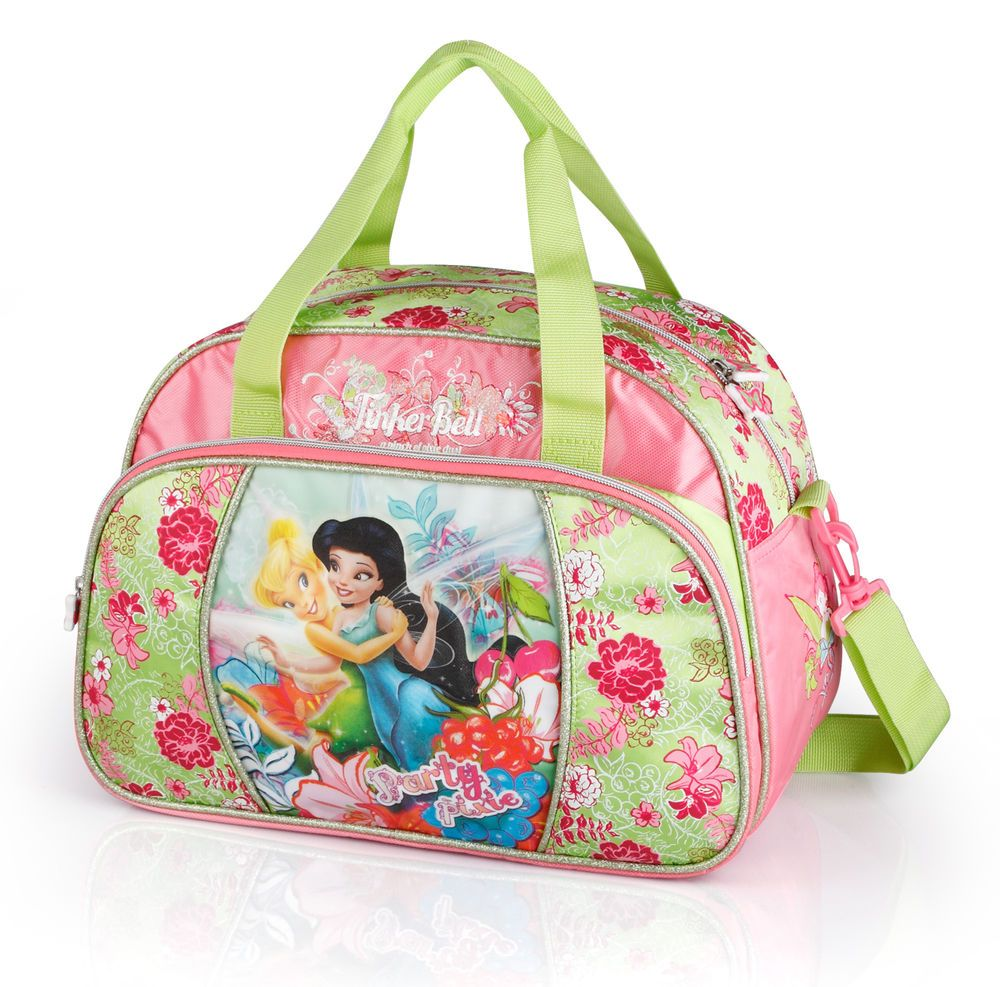 45d592902d3f Disney Princess Fairies Tinker Bell DELUXE Travel Gym Sports Nursery Weekend  Bag