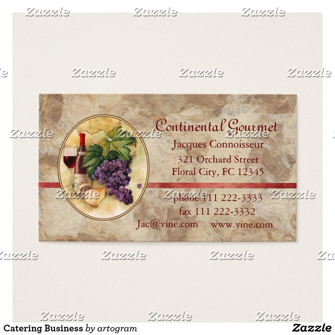 Catering Business Card Zazzle