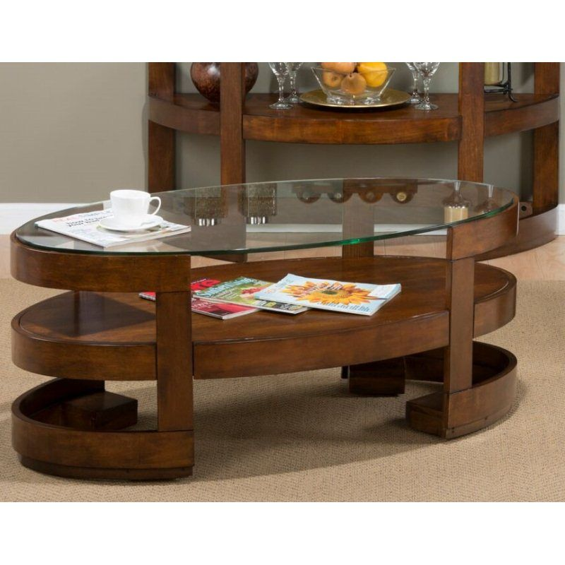 Cocktail Table With 2 Drawers And Shelf Brown Jofran Inc Living Room Coffee Table Table Coffee Table