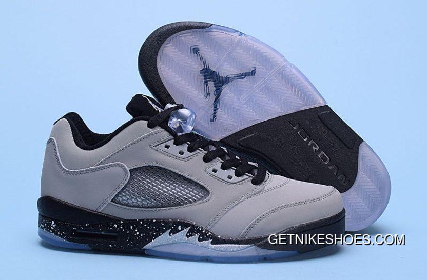 "b794488f427 2016 Air Jordans 5 Low ""Chinese New Year"" Black Bright Crimson-Beta Blue  Shoes Cheap"