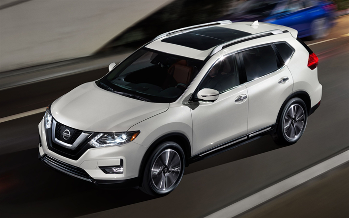 Download wallpapers Nissan Rogue, 2018, 4k, crossover, new