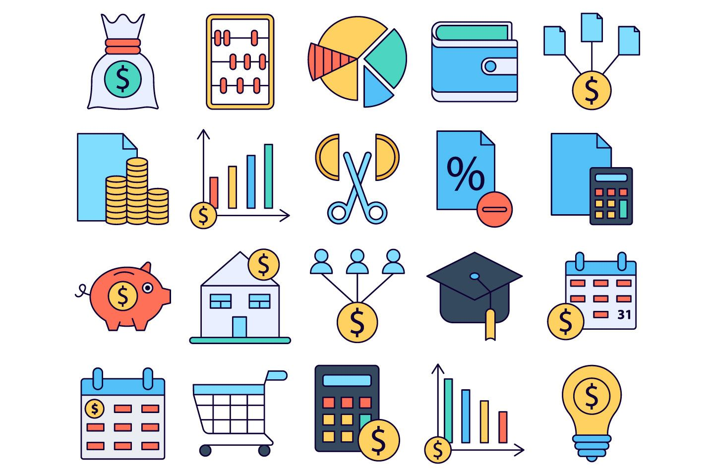 Budget Vector Free Icon Set Graphicsurf Com