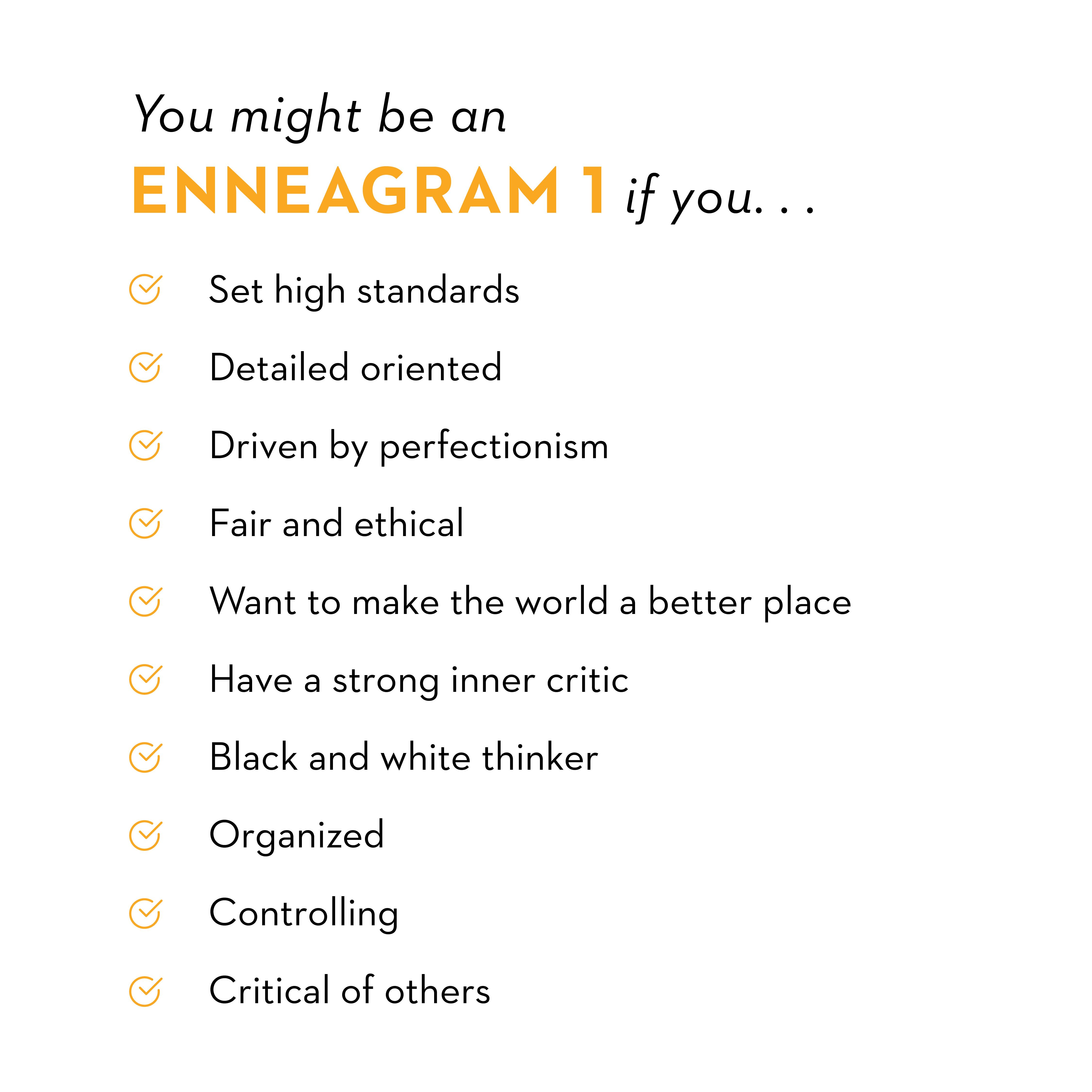 Type One: The Perfectionist - Enneagram Today