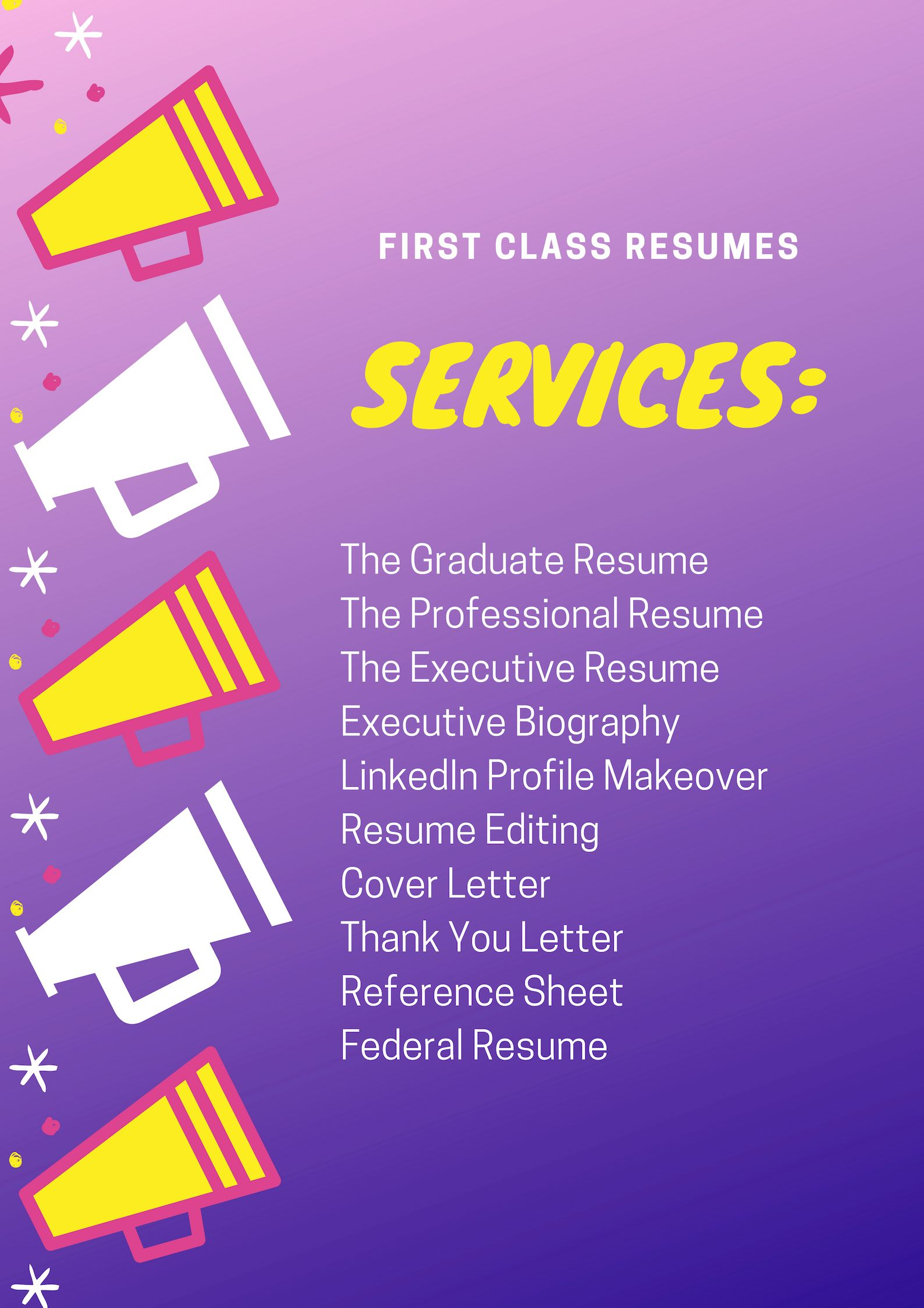 First class resumes career services mission is to