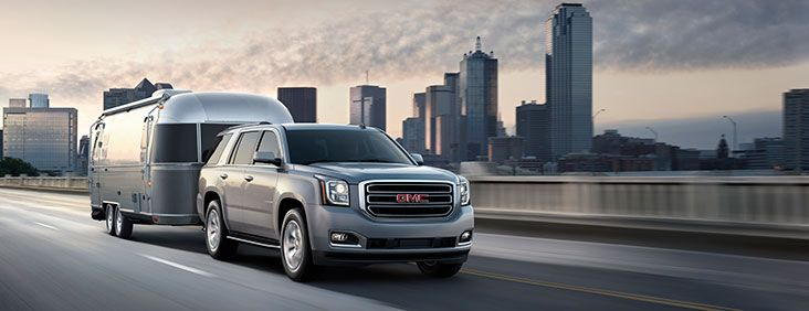 The 2015 Yukon Full Size Suv Is A Sporty Utility Vehicle With Towing Capacity Full Size Suv Suv Gmc Yukon
