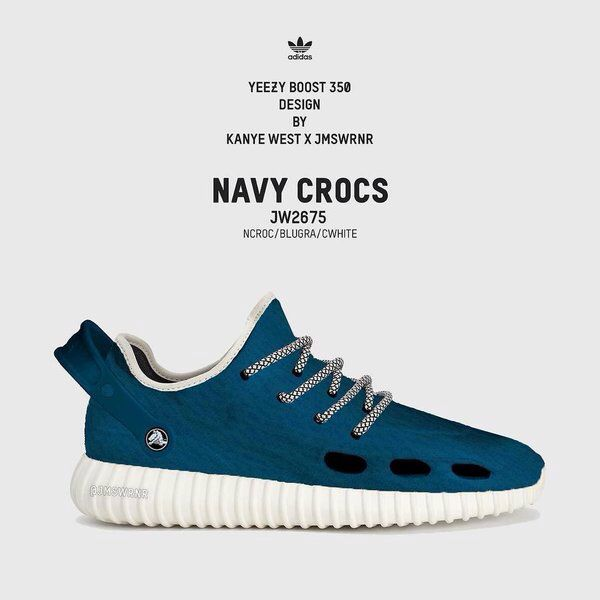 Kanye West x James Warner custom - Adidas Yeezy 350 boost x Crocs