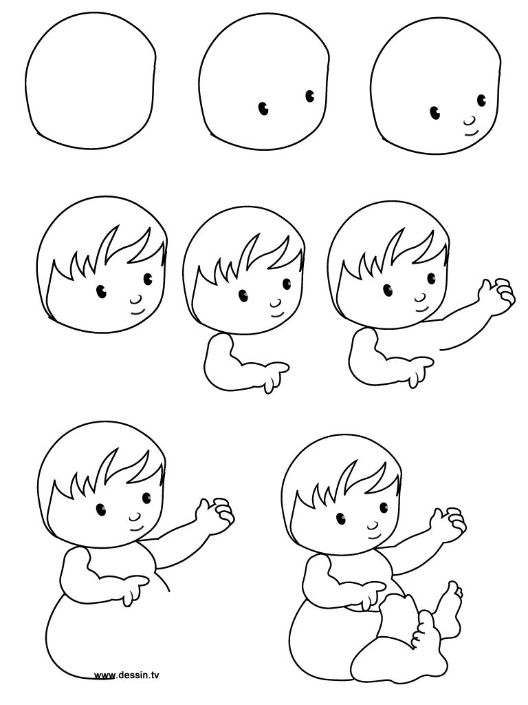 How To Draw Baby Animals Step By Step Drawing Babies Step By Step
