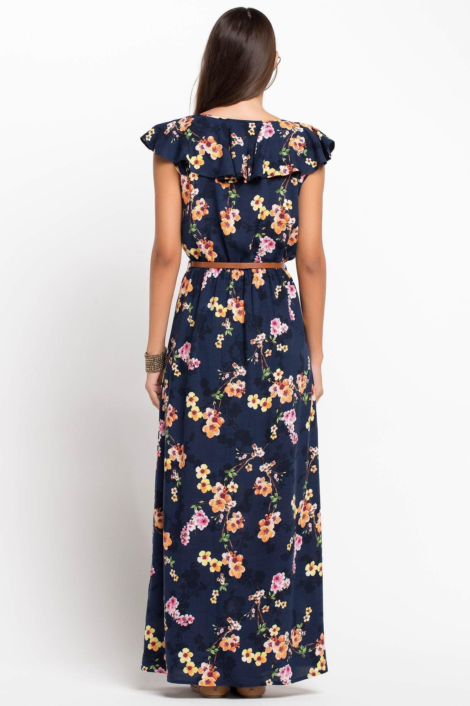 Cicek Desenli Elbise Elbise Maksi Elbiseler The Dress