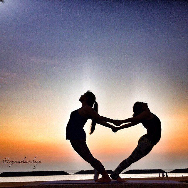 Pin For Later Partner Yoga Poses Friends And Lovers Arching Heart