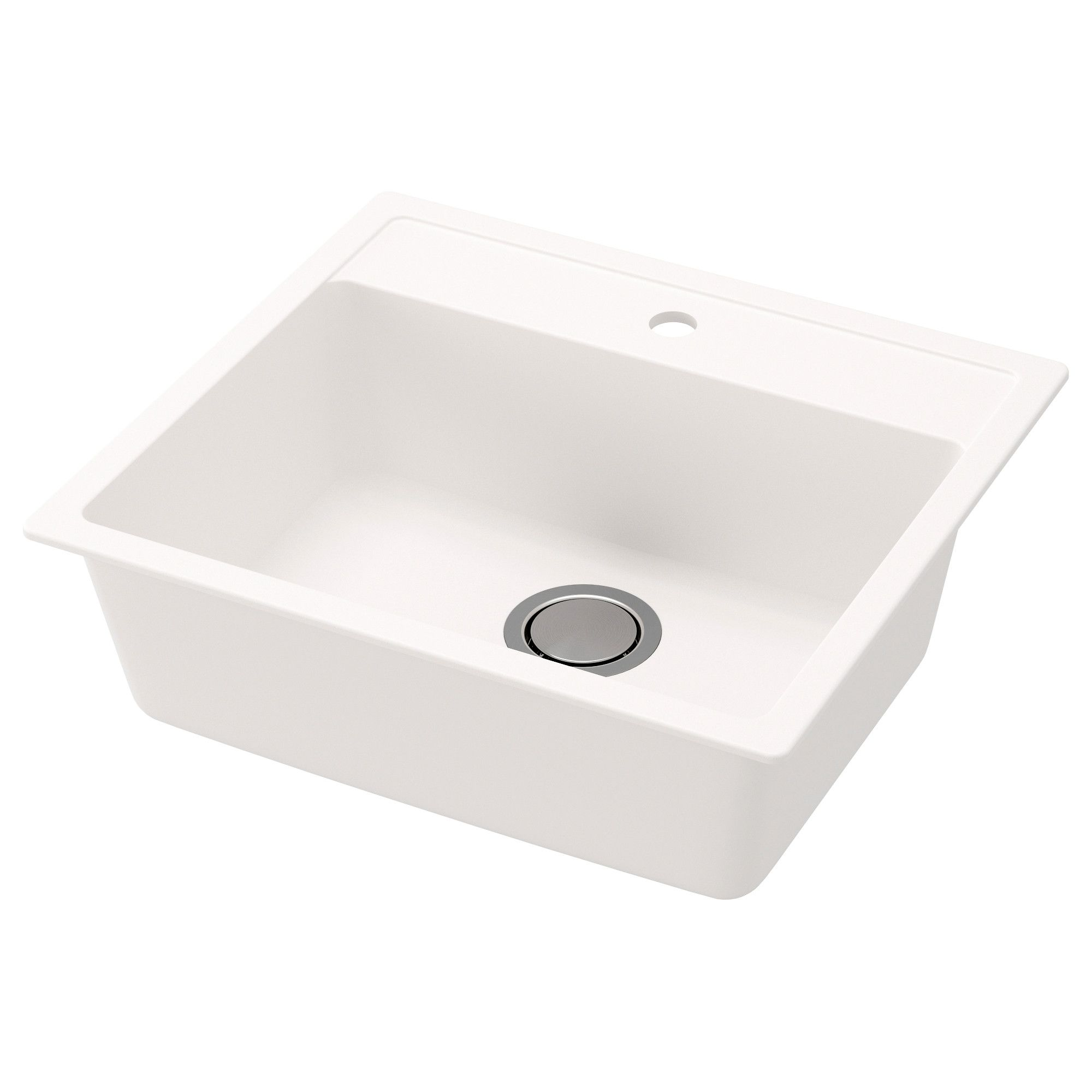 Hallviken Sink White Quartz Composite 22x19 5 8 Sink Bowl Sink Double Bowl Sink