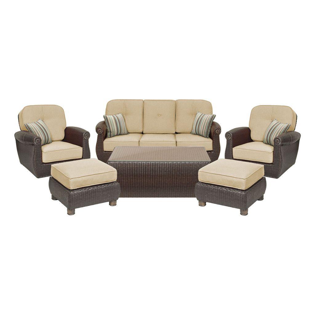 Breckenridge 4 Piece Patio Furniture Set Two Swivel: Breckenridge 6 Piece Patio Furniture Set: Two Swivel