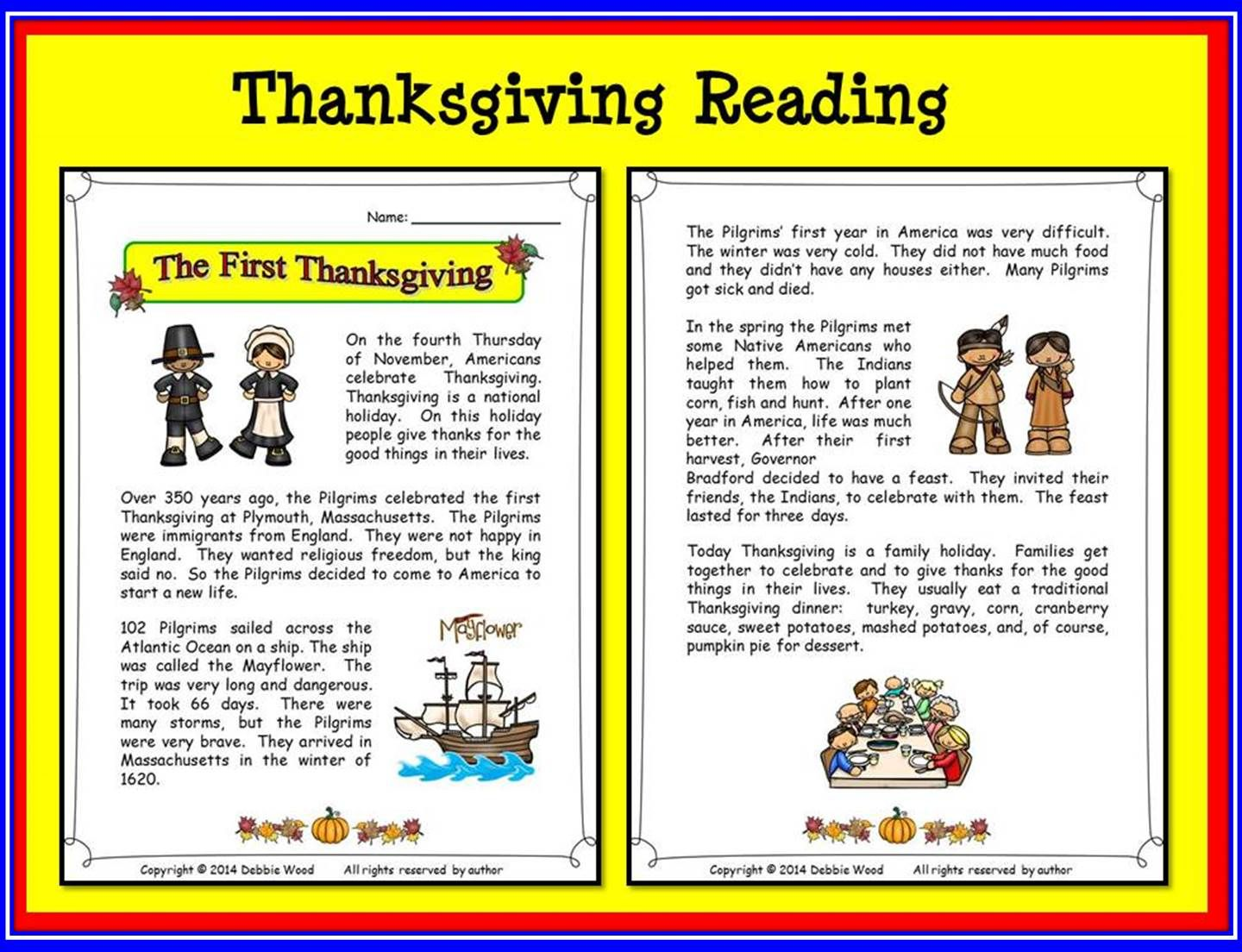 Workbooks thanksgiving reading comprehension worksheets middle school : Thanksgiving Activities | Wh questions, Word search and Thanksgiving