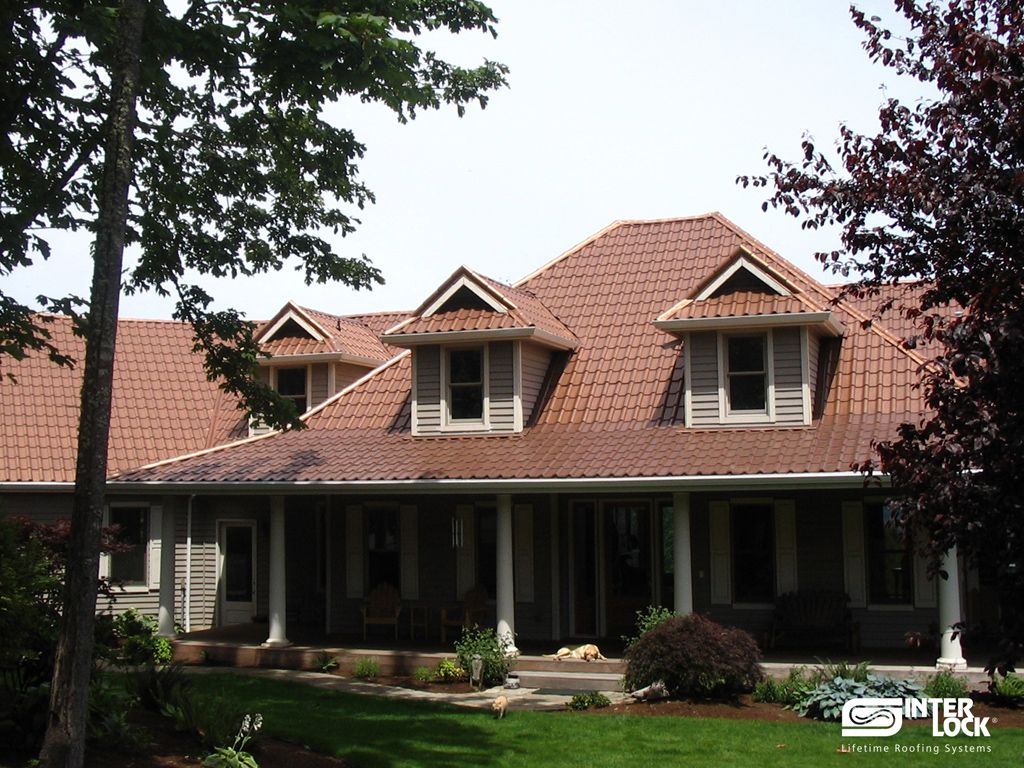 Aged Copper Interlock Tile Roof From Oregon. Installed By Interlock  Industries, Inc. 1