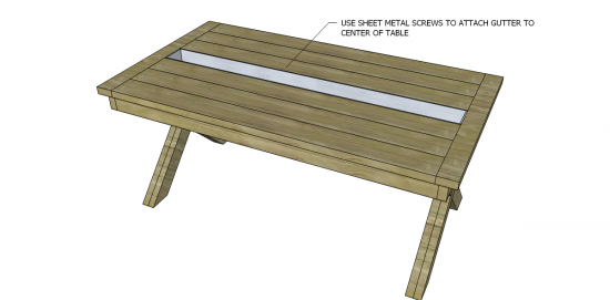 Free DIY Furniture Plans To Build A Rustic Outdoor Table   The Design  Confidential