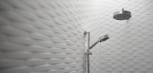 Bowed Tiles In The Shower With Images Modern Master Bathroom