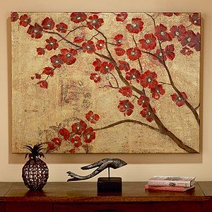 This Is Beautiful World Market Cost Plus On Sale Cherry Blossom Wall Art Art Wall Art Painting