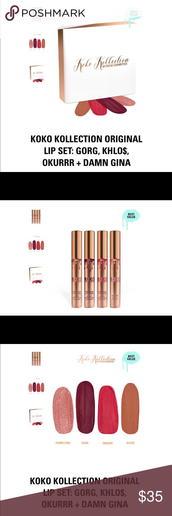 Koko Collection Original Brand New Kylie Jenner Koko Collection Matte Lip Set Makeup Lipstick Matte Lips Lip Set Lipstick