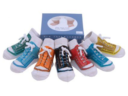 Amazon.com: Baby Emporio - 7 Pairs of Baby Boy Sneaker Socks 0-12 months - Anti-slip Soles, in a Keepsake Box: Clothing