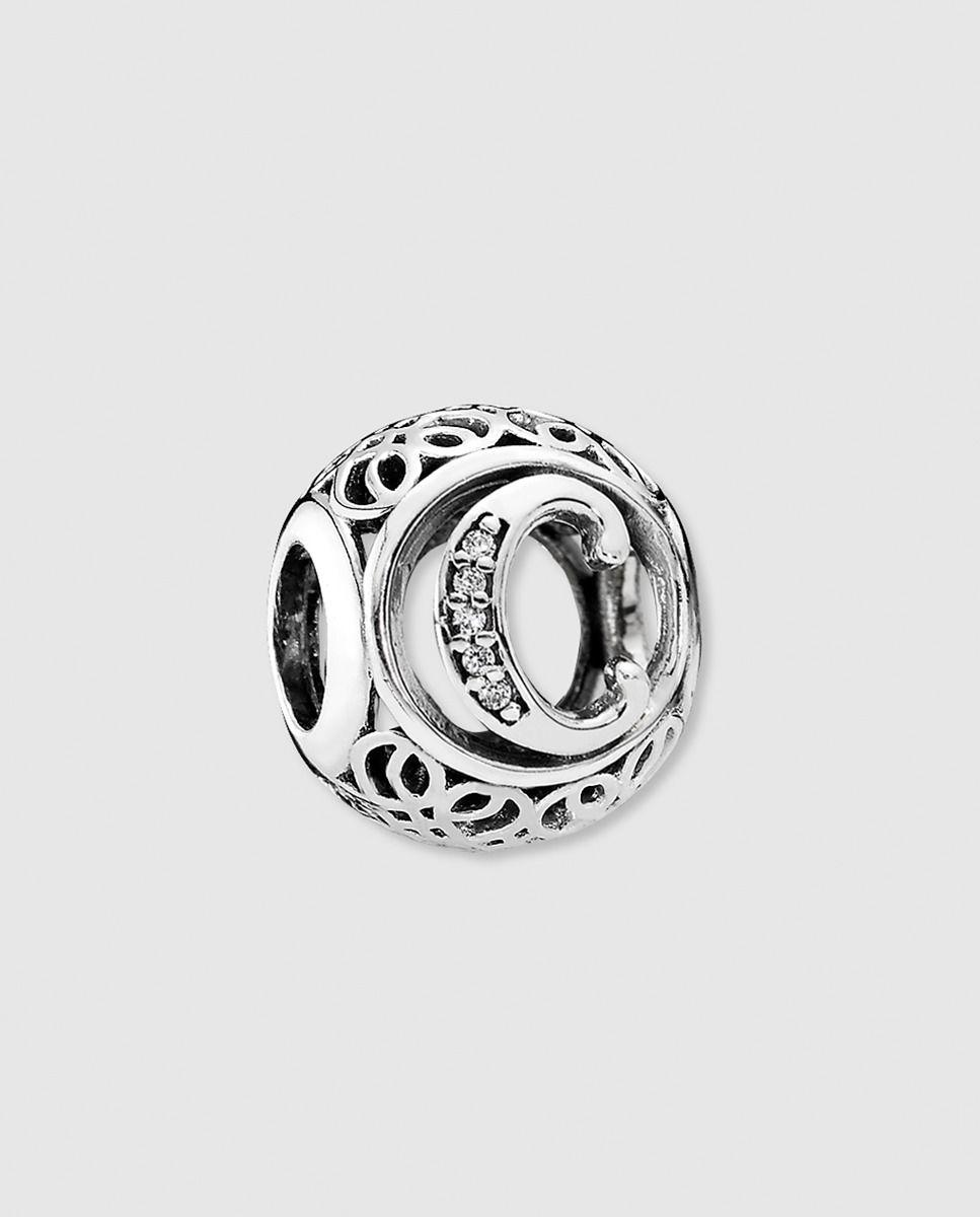 62bdde622408 Charm en plata y circonitas letra C para  pulseras PANDORA  - Charm en plata  de primera ley y circonitas transparentes. Letra C
