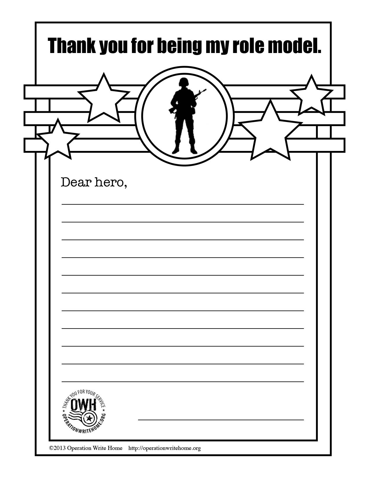 OWH\'s Free coloring pages & space for children to write to service ...