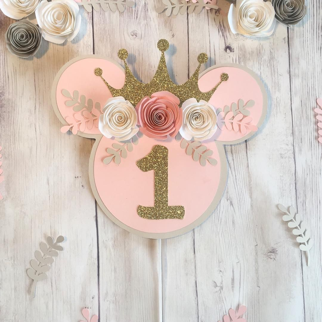 "Cake Toppers | Party Supplies on Instagram: ""How adorable is this Minnie Mouse cake topper . . . . . . . . . . . . . #cakesmashdecor #featuremyfiestaday #birthday #birthdaycaketopper…"""