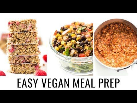 6 vegan meal prep easy healthy recipes youtube recetas cena vegan meal prep easy healthy recipes youtube forumfinder Gallery