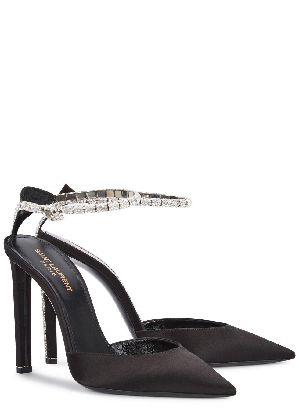 48528d1b56f Kate Swarovski-embellished satin pumps - Saint Laurent   Heels ...
