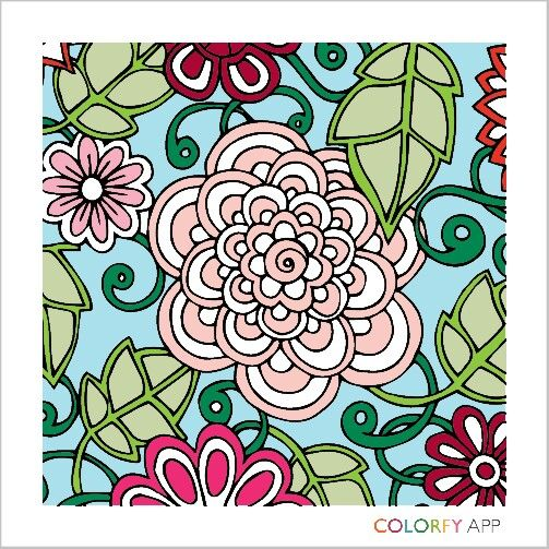 Granny Couch Artwork Colorful Art Colorfy App