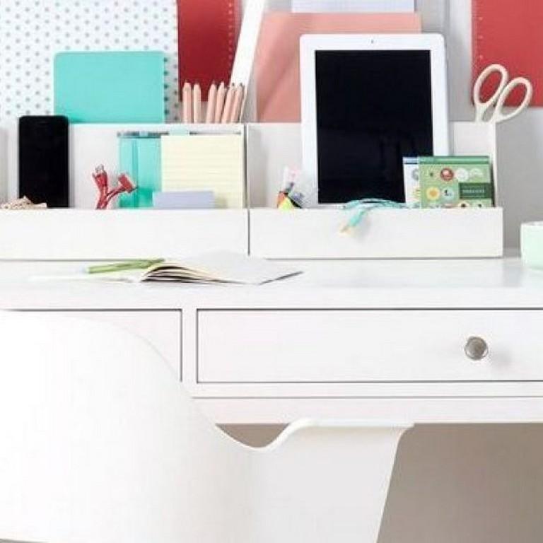 Office Deskorganization: 45 Elegant Desk Organization DIY Small Spaces Dorm Room