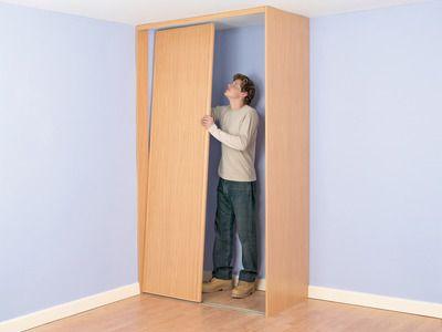 How To Build A Closet Into The Corner Of A Room