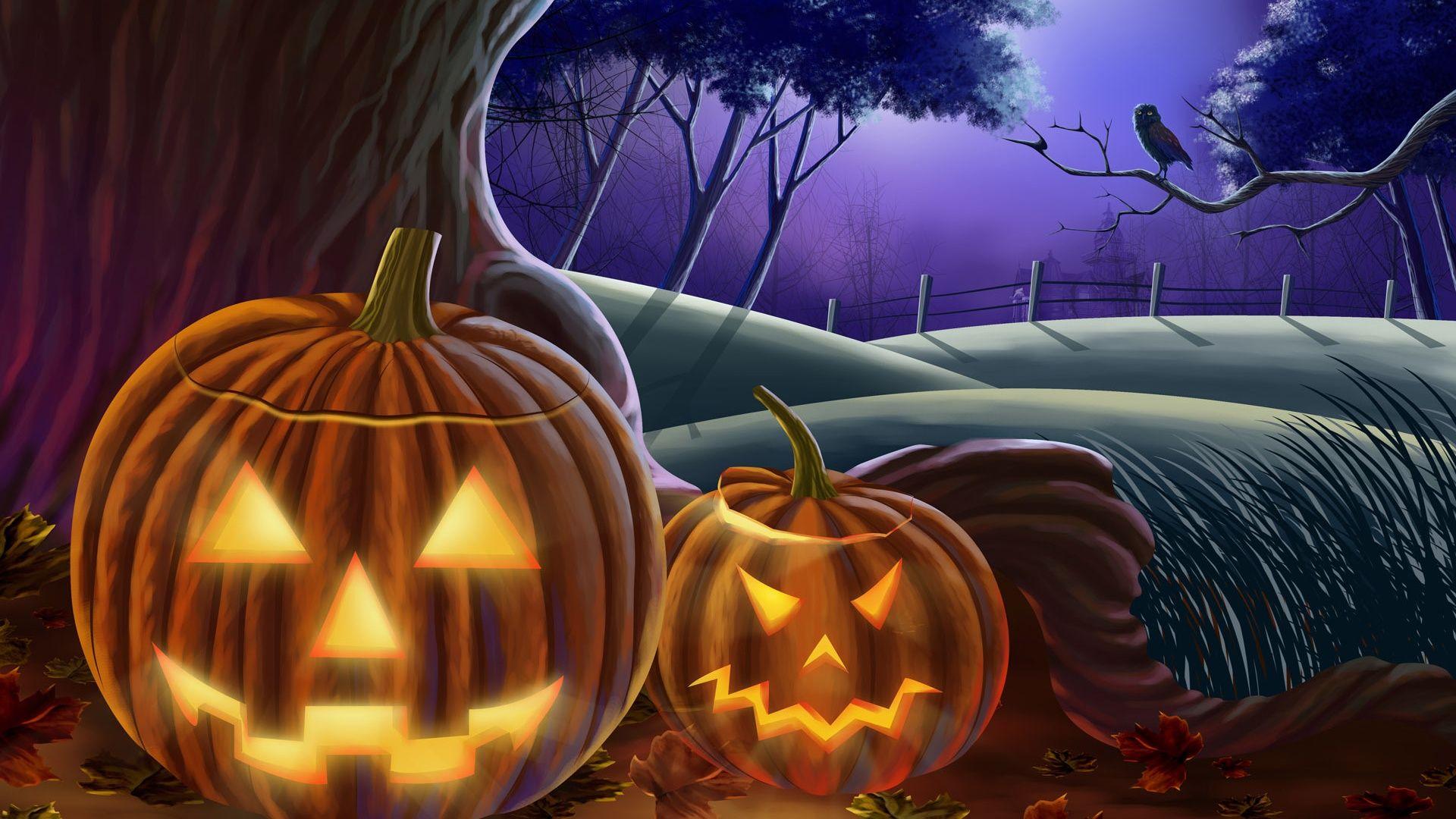 Spooky night in 1920x1080 resolution HD Desktop