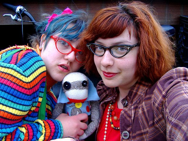 Sock Monkey and Specs style.
