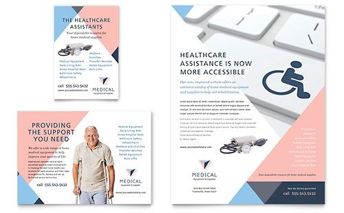 Home Medical Equipment Flyer \ Ad Template Campaign Pinterest - advertisement brochure