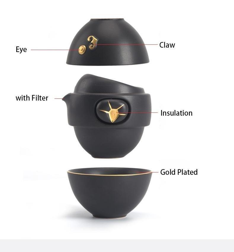 Dragon Egg Nesting Tea Sets 2 Cup #teasets