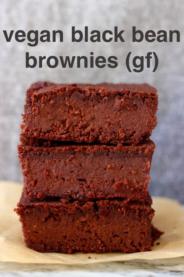 These Vegan Black Bean Brownies are seriously fudgy, rich and indulgent. They're made in just one b