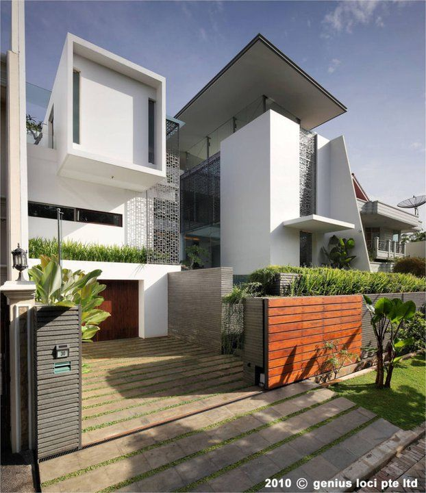 this residence is situated within a small residential complex in jakarta in this development modern contemporary homesdesign. beautiful ideas. Home Design Ideas